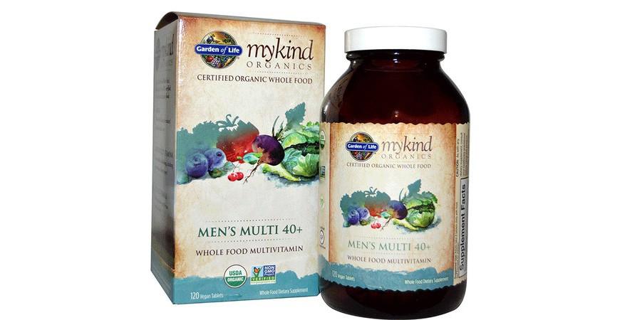 가든오브라이프(Garden of Life) 마이카인드(mykind) 오가닉 40세+ 남성 종합비타민을 소개합니다.
